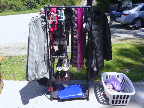 Shoes, accessories, and new/never worn and more expensive clothing