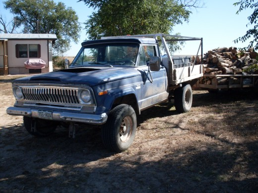The Jeep, helping with everyday business - firewood, in this case.