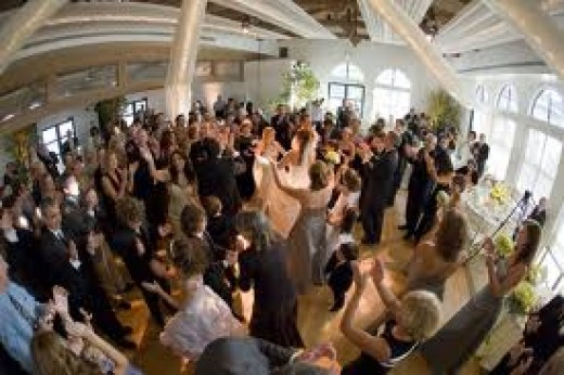 Fun at the wedding reception