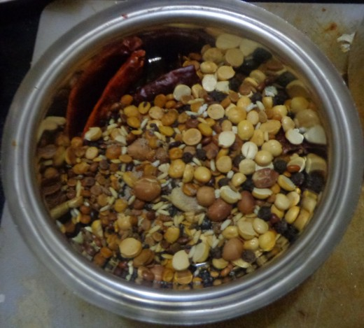 Grind the fried ingredients only when the temperature of the ingredients gets reduced.