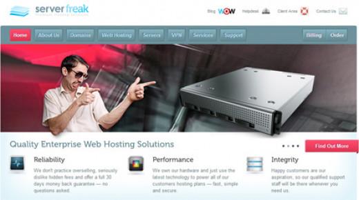 ServerFreak web hosting