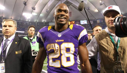 Adrian Peterson of the Minnesota Vikings