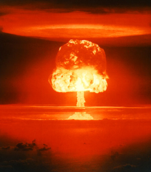 Boom!   A thermonuclear test.