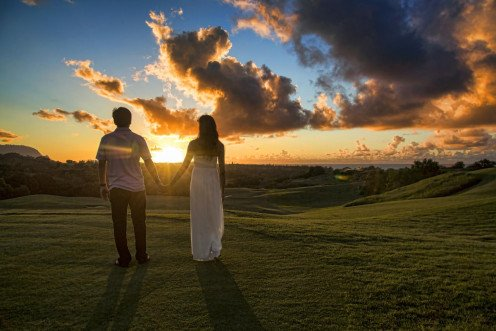 "Couple Holding Hands in Kauai, by ""Christopher"""