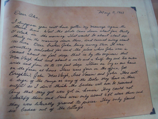 Desperate letters were sent to loved ones.