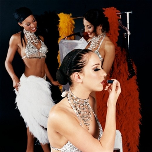 Teaching apprentice showgirls the importance of pretty lips