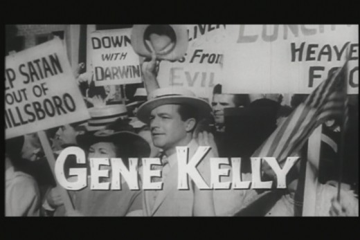 Gene Kelly Screenshot from the trailer to Inherit the Wind.