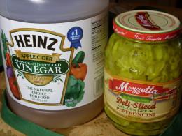 Add tartness and tang with vinegar and deli sliced peperoncini.