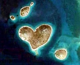Croatian Natural Heart found by Google Earth