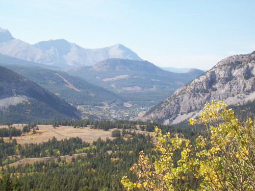 On a drive up behind Frank Slide Interpretive Centre. A shot of Blairmore, my home town.