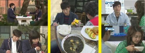 Han Kang (Jo Hyun Jae) and Yi Kyung (Lee Yo Won) having Seaweed Soup on their Birthdays  (49 Days K-Drama, 2011)
