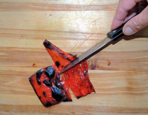 peel back with paring knife