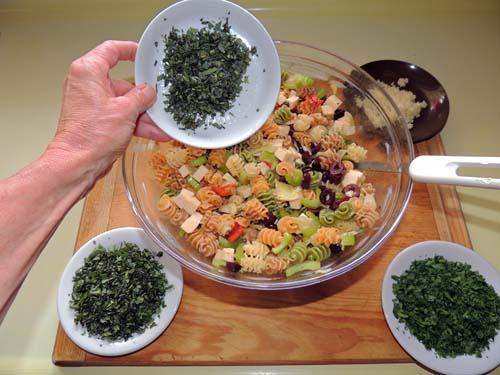add parsley, basil & tarragon