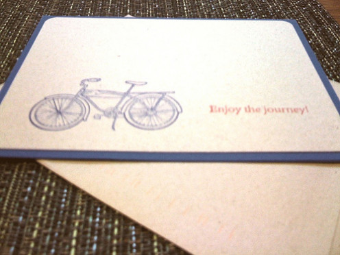 There are so many beautiful stationery options other there that have both regular and tandem bikes.