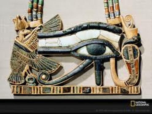 The Eye of Horus is a symbol of protection, royal power and good health.  Perhaps a bit of different meaning than most our used to, but anyway.