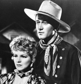 John Wayne and Claire Trevor in Stagecoach (1939)