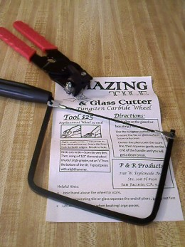 Tile and glass cutter for $25.