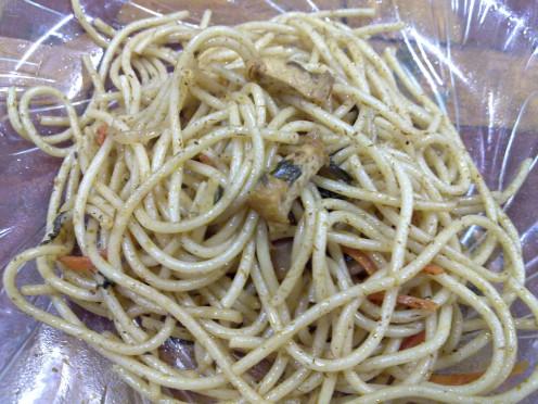 tempting plate of Tom Yam Spahetti