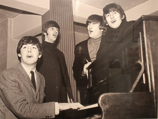 New photos of the Beatles in rehearsal.
