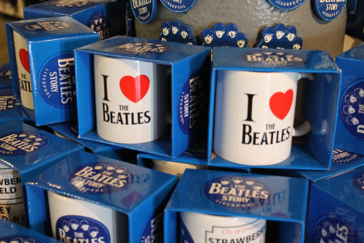 Souvenirs at The Beatles Story, Liverpool.