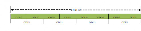 ODTU12 with ODU0 tributary slots