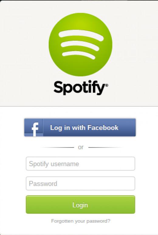 Login to Spotify.