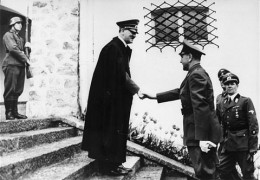 Adolf Hitler at the Berghof for a state visit.