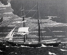 An engraving of the Mary Celeste