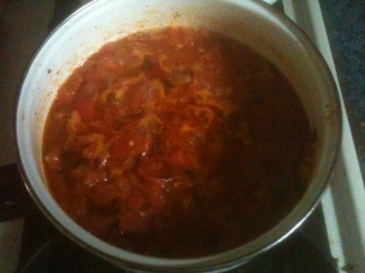 Cooking one thing from scratch is an achievement.  This tomato sauce is a labor of love.