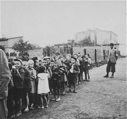 This is very hard to see.  From Ghetto Litzmannstadt where children were rounded up to be deported to the Chelmno death camp.  It is truly heartbreaking.