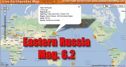 The large earthquake in Eastern Russia emphasizes the tectonic plate movement world wide.
