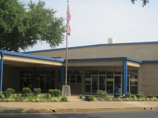 John Tyler High School's main entrance after the reconstruction.