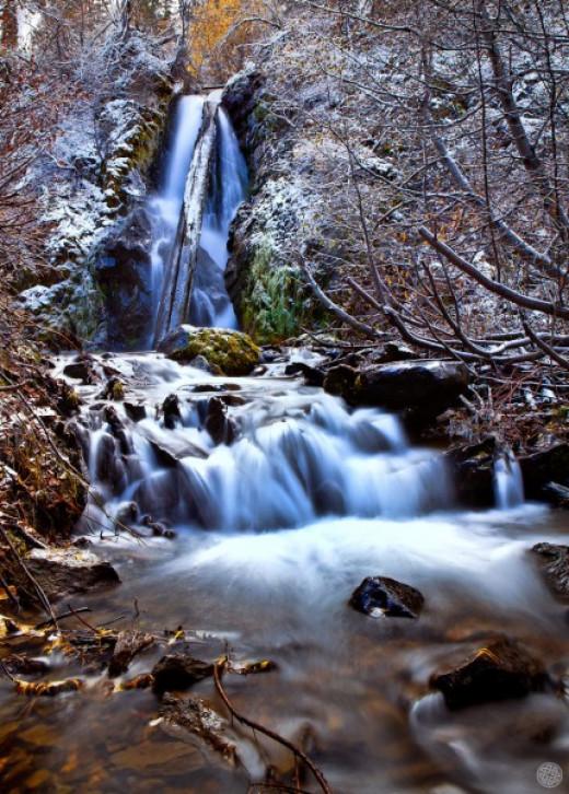 Hunter Creek Falls about 2.5 hours west of Winnemucca. Near Reno.