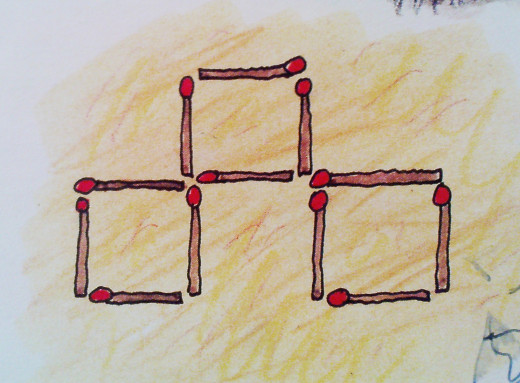 3 identical squares by moving 3 matchsticks!