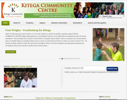 The Kitega Community Website