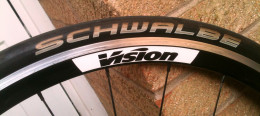 The detailed 'Schwalbe' on the sidewalls of the Ultremo ZX tires