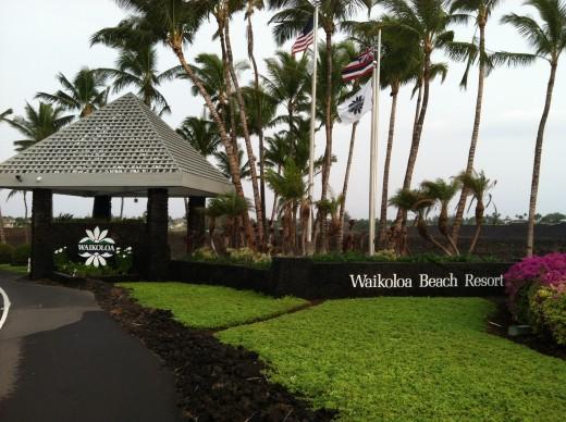 Entrance to the Waikoloa Beach Resort