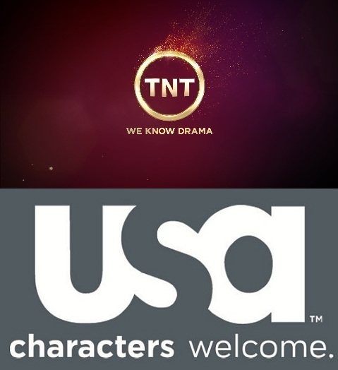 The logos of the two top cable networks that carry the series covered in this article.