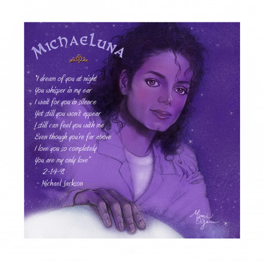 Illustration, Mimi O'Garren - Quote, Michael Jackson, used by permission from Jackson Estate