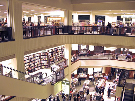 A Barnes & Noble store - what does it take to get a book on these shelves?