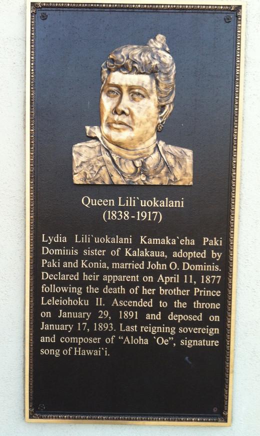 Memorial Tribute to Queen Liliuokalani