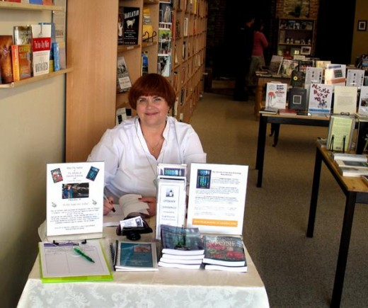 That's me at my book signing event at Wild Mountain Books in Placerville.