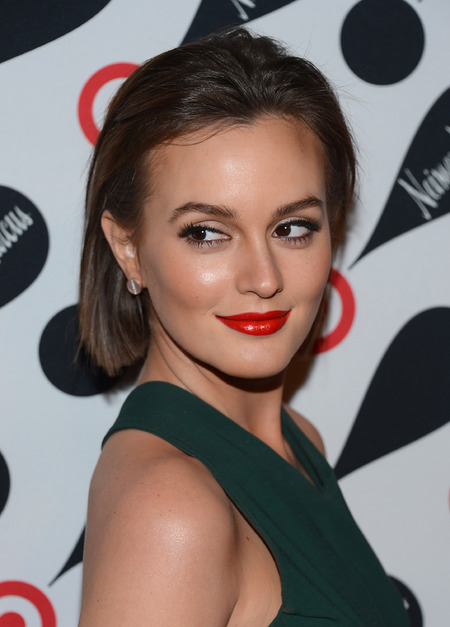 Leighton Meester with her Glossy Lips