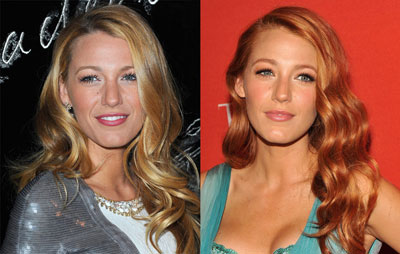 Blake Lively with her Stained Red Lips