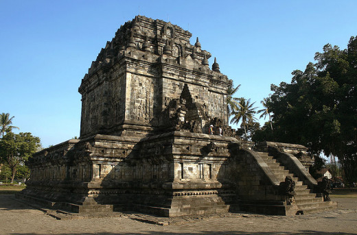 Mendut Temple, near Borobudur, Magelang, Central Java, Indonesia. Another example of budhist styled temple.