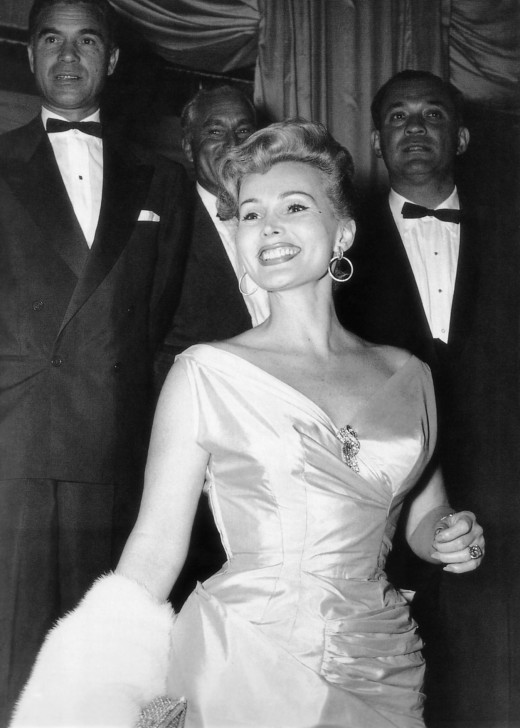 1954 photograph of Zsa Zsa Gabor