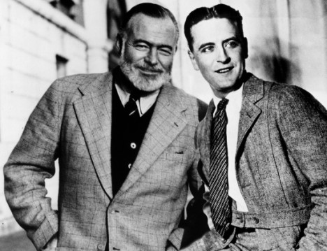 Ernest Hemingway and F. Scott Fitzgerald