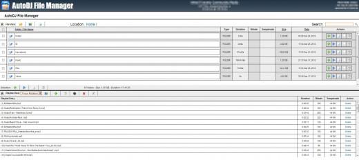 File Manager on Shoucast server