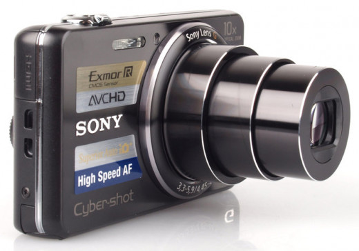 The Sony Cyber-shot DSC-WX100: The world's slimmest and lightest compact camera to feature a 10x optical zoom lens.
