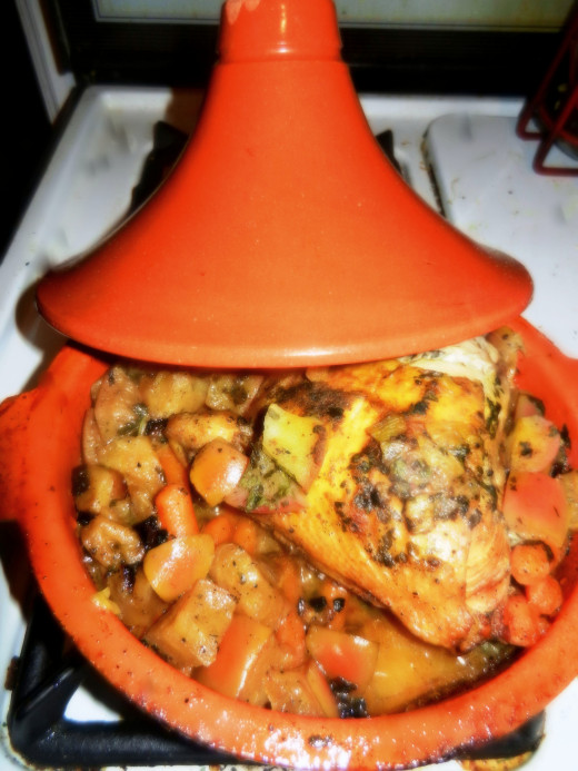 A finished tajine.